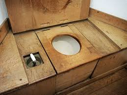 wooden sea toilet
